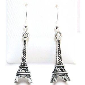 Eiffel tower Earrings .925 silver